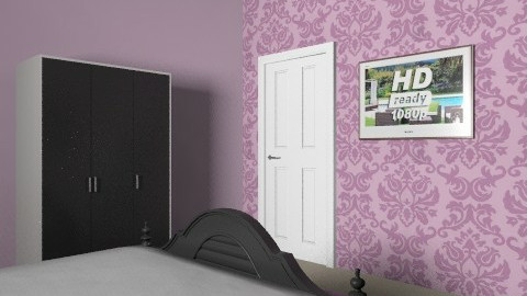purple newlyweds bedroom - Glamour - Bedroom - by chelsiemia