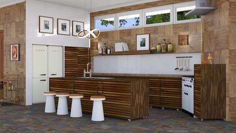 mid century kitchen - Kitchen - by elyssaumber