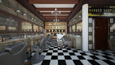 barber basement shop - Vintage - by sometimes i am here