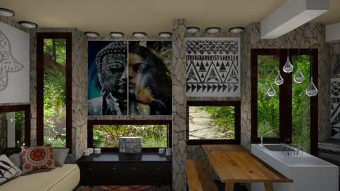 Buddha Room - Bedroom - by Elena Heimark