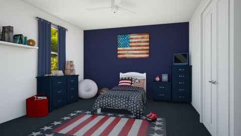 All American Kid - Country - Kids room - by creato