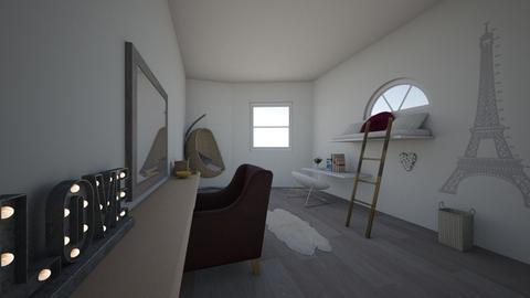 Paris Attic Loft - Bedroom - by bebe_bazemore22