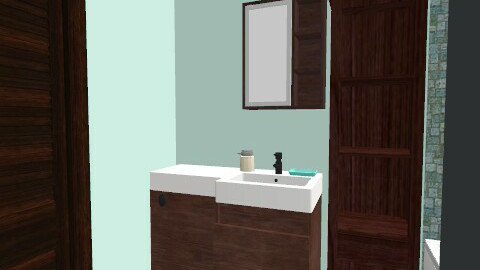 moms tiny bathroom - Modern - Bathroom - by guayaba soda1
