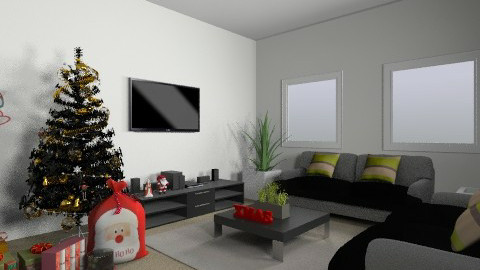 xmas  - Living room - by awiley