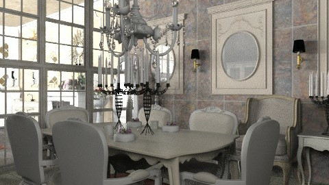French apartment: Dining - Classic - Kitchen - by Your well wisher