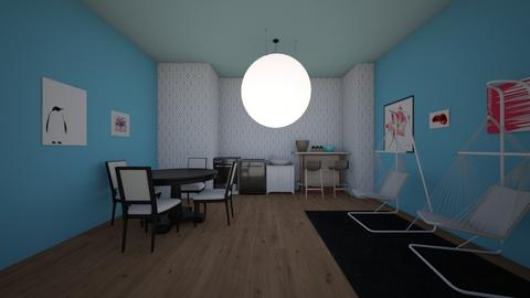 Dining living and Kithcen - Dining room - by Crazy cat girl 10