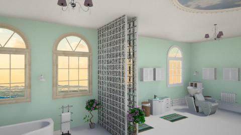 Mint Flower - Bathroom - by ReneaaQ