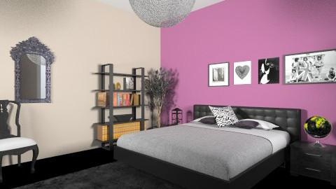 black - Bedroom - by Ren707