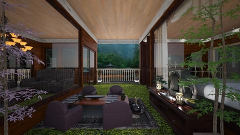 Japan Wood Villa - Garden - by slyteryn oliver