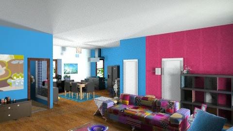 blue - Living room - by zamy ugbo