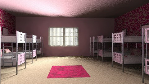 girls dormroom - Feminine - Bedroom - by chelsiemia