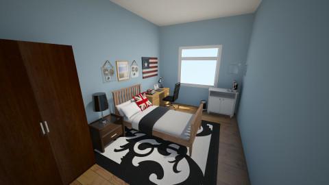 my room - Retro - Bedroom - by HEROBRINE