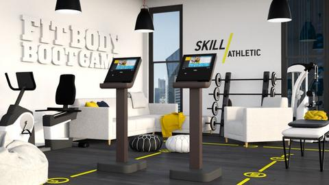Yellow and Black Gym - by millerfam