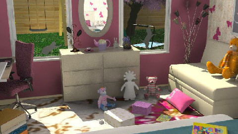 Girl's Bedroom 1a - Kids room - by Theadora