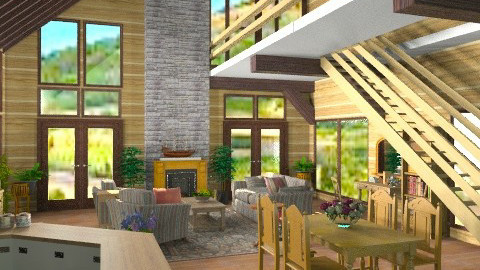 Rustic Country House - Rustic - Living room - by Bibiche