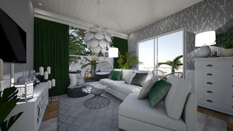 a spot of green - Modern - Living room - by sweet home alibama