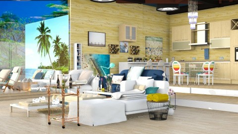 Relaxing beach house  - Modern - Living room - by InteriorDesigner111