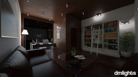 work at night - Office - by DMLights-user-1229397