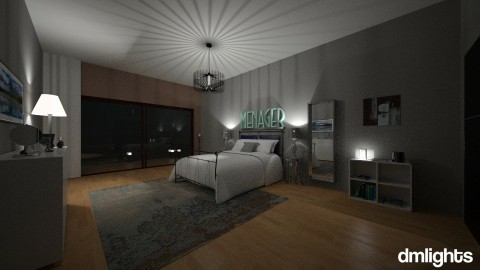 greyyyyy - Bedroom - by DMLights-user-1229397