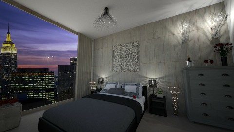 Hotel Room NYC - Minimal - Bedroom - by Nikki18