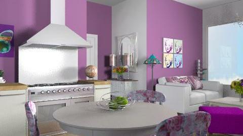purple apartment - Vintage - Kitchen - by yasemin04
