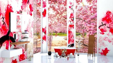 Cherry Blossom Bathroom  - Modern - Bedroom - by InteriorDesigner111