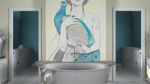 The Lady and the Peacock - Classic - Bathroom - by Alison Hayes