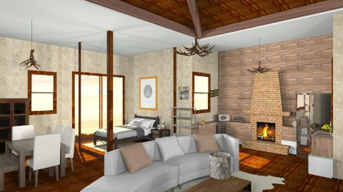 Lodge - Rustic - Living room - by HGranger2