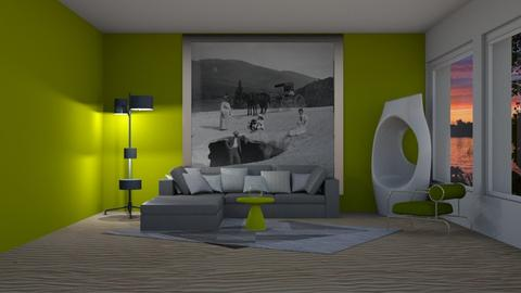 green - Living room - by pachecosilv