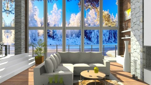 Winter remix - Living room - by isabelleee
