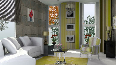 CONFORT - Glamour - Living room - by analilia1900