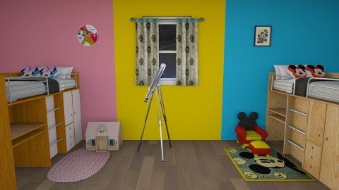 Twins Mickey and Minnie  - Modern - Kids room - by oliinree12