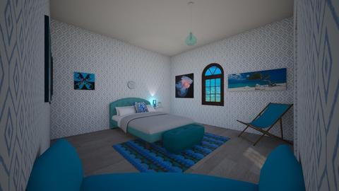 My Greek Bedroom - Bedroom - by Deyana Cvetkova