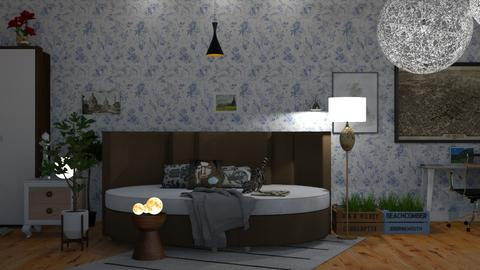 Night in Country - Eclectic - Kids room - by elephant in savanna