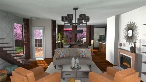 Contemporary Moroccan Twist - Rustic - Living room - by mrusso0