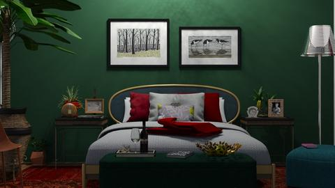 M_ Fine romance - Bedroom - by milyca8