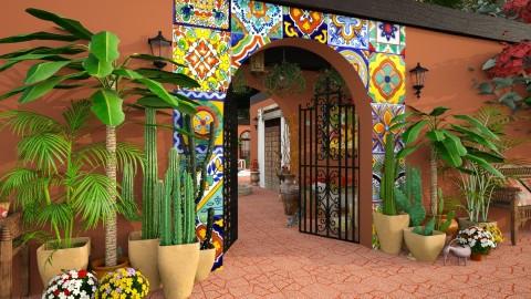 Design 205 Hacienda Entrance - Garden - by Daisy320