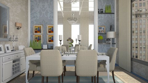 Sit Chat - Dining room - by doctorlili