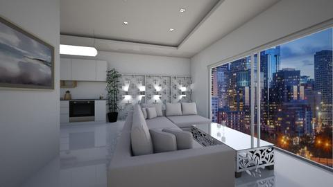 White Structure - Living room - by Ginntare