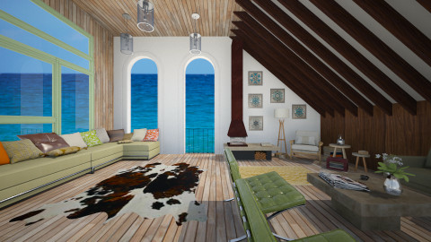 Endless sea - Eclectic - Living room - by Laurika