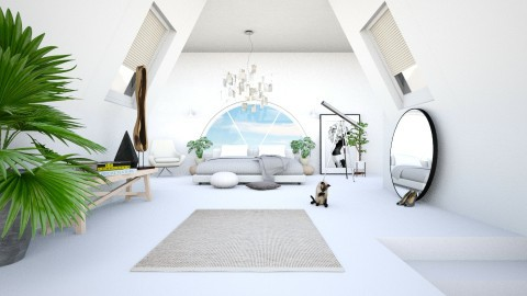 Attic - Minimal - Bedroom - by esmeegroothuizen
