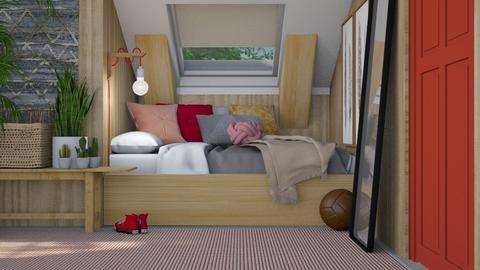 Attic Bedroom - Modern - Bedroom - by HenkRetro1960