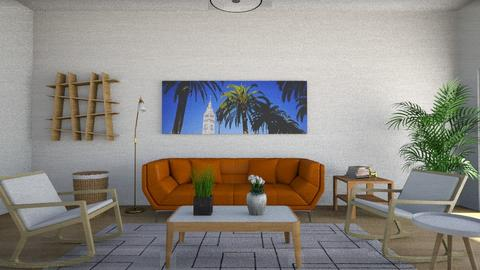 Mid Century Modern living - Living room - by interior_rooms91