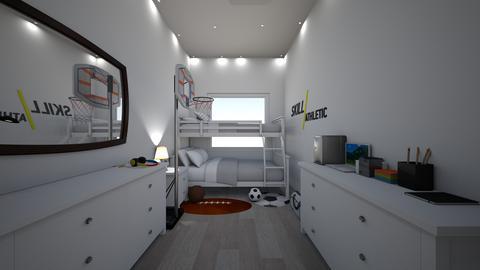 GuysDormRoomCollegeDude - Modern - Bedroom - by jade1111