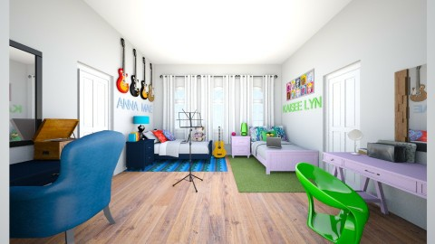 Shared Kids Room - Classic - Kids room - by alyssathelimpnoodle