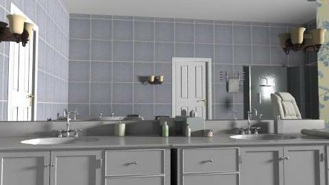 kék virágos luxusfürdőszoba - Classic - Bathroom - by Audrey17