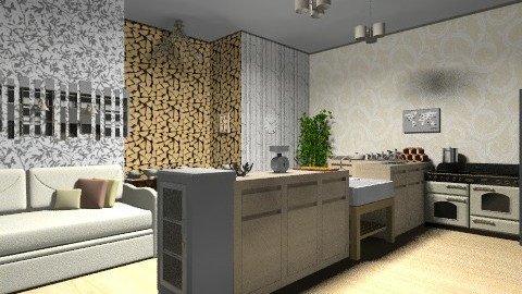 Hmm is it white - Rustic - Kitchen - by sophiesweetie8