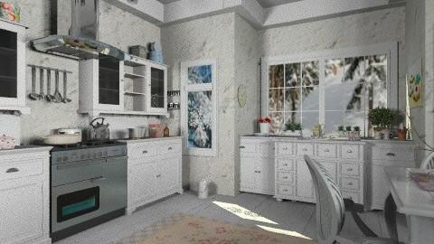 White kitchen - Vintage - Kitchen - by milyca8
