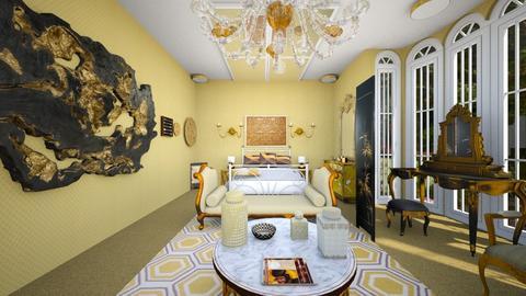 Gold Bedroom 2 - Bedroom - by SammyJPili