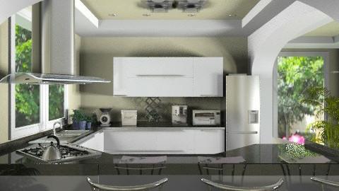 modern green kitchen - Modern - Kitchen - by KittiFarkas